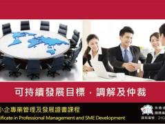 可持續發展目標。調解及仲裁課程